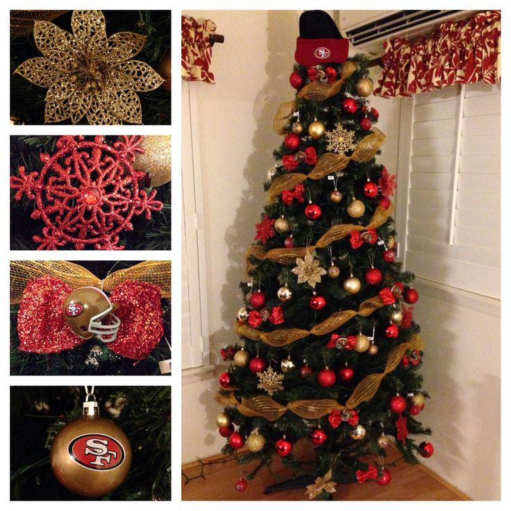 San Francisco 49ers Christmas Tree