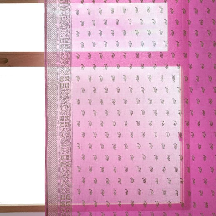 GORDIJN MET METALLIC PRINT EN INDIASE INSPIRATIE - Gordijnen - Slaapkamer | Zara Home Holland