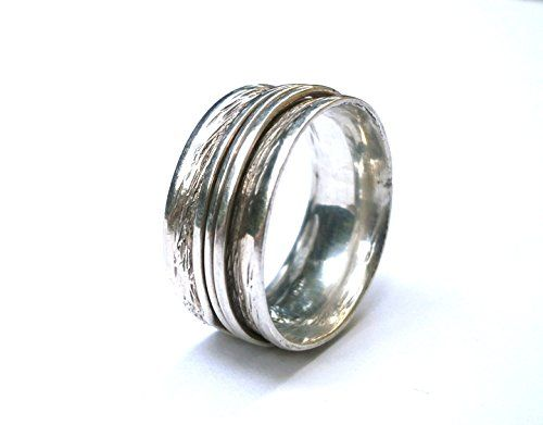 Unisex Sterling Silver Hammered Roll Wrapped Oxidized Ring, Handmade Artisan Designed Wedding Band, Customized Band Ring, for Men or Women Konstantis Jewelry http://www.amazon.com/dp/B00QOHQQY2/ref=cm_sw_r_pi_dp_4e79vb1WNYE88