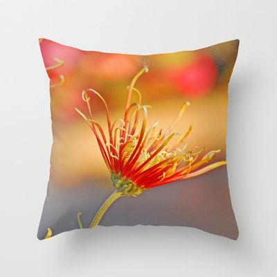 Autumn/秋菊 14 Throw Pillow by Katherine Song  - $20.00