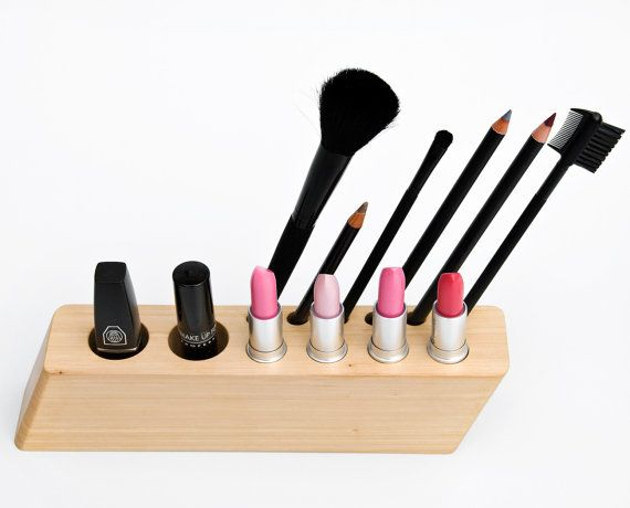 Best Makeup Images On Pinterest Makeup Dresser Bedroom Ideas - Cosmetic makeup organizer wood countertop organizer by lessandmore