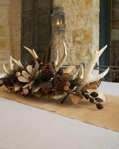 Diy mantle decor idea with sheds antler art pinterest for Antler decorations for home