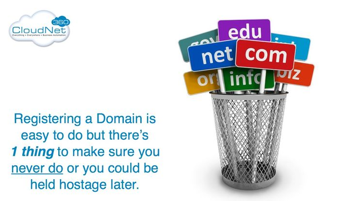 Domain Name Registration - Doing It Right