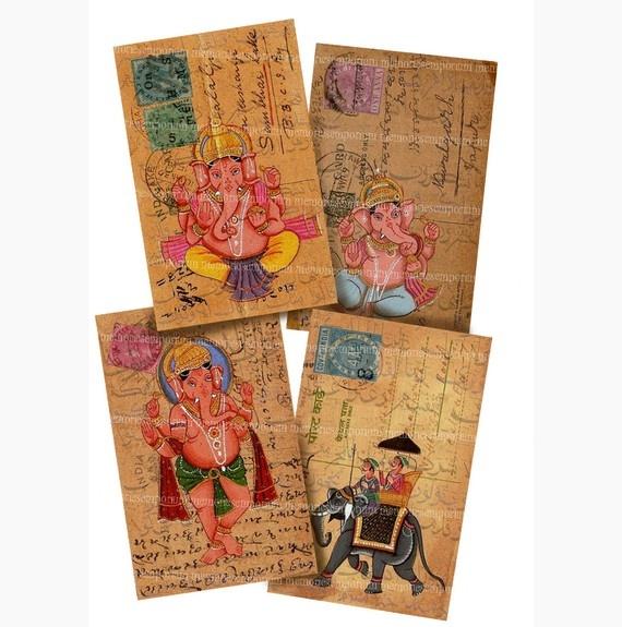 Ganesh postcards