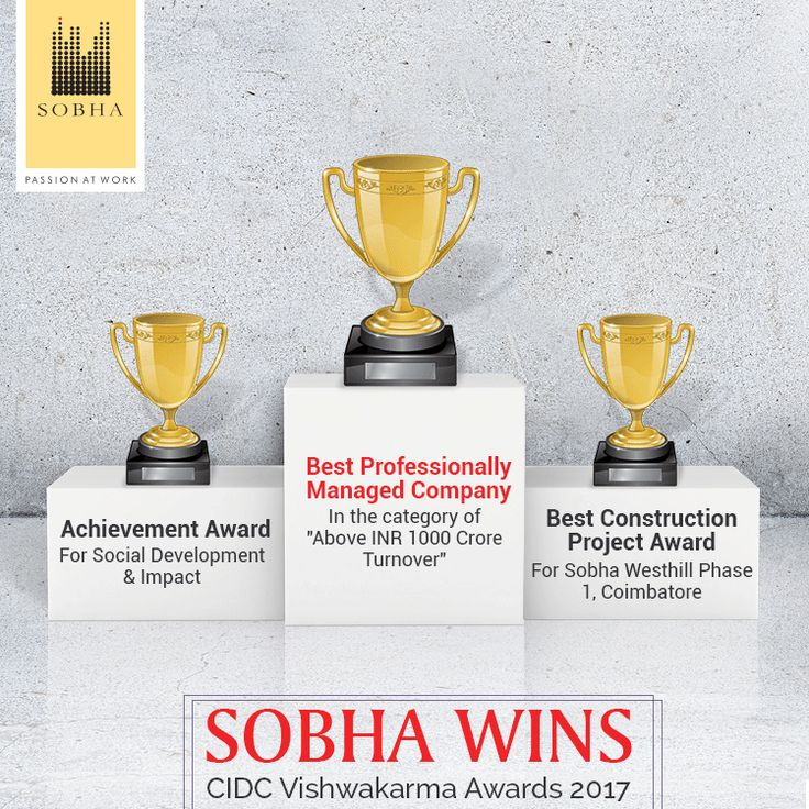#SobhaNCR thanks the Construction Industry Development Council (CIDC) for recognizing our #PassionAtWork.