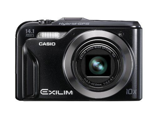 Casio EX-H20GBK Hybrid-GPS Enabled 14 MP Digital Camera with 10x Zoom and 3-Inch LCD (Black) by Casio. $299.00. From the Manufacturer                 The EX-H20G is equipped with a Hybrid GPS system that combines a GPS engine with autonomic positioning made possible by a motion sensor. The system sets a new standard for geotagging and offers exciting new ways to use a digital camera. With the new Exilim Engine HS, the EX-H20G features all of the essential capabilities expected ...