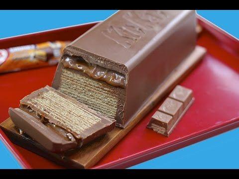 GIANT Caramel KitKat CHUNKY Candy Bar! Huge Kit Kat Chocolate Bar Recipe : My Cupcake Addiction - 9/29/15