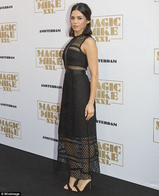 She's a sensation:Jenna Dewan-Tatum looked absolutely incredible at the Amsterdam premier...