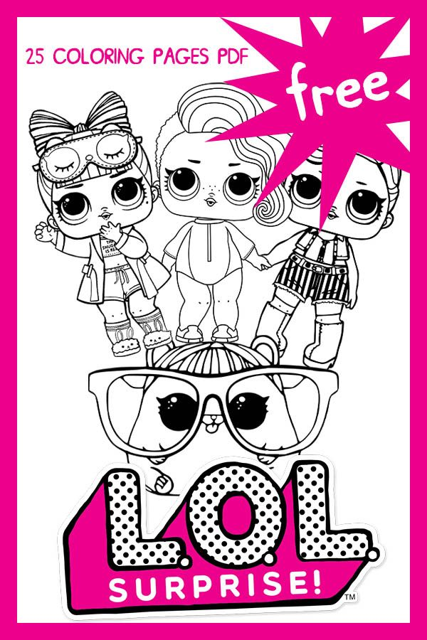 We Know You Like Lol Dolls This Time We Present To You 25 Pictures That Are Ready For You To Color Let S Use Your Coloring Pages Coloring For Kids Lol Dolls