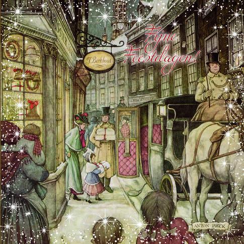 Formaat kaart 12,5 x 12,5 cm € 4,95 (8 kaarten) Giftbox met 8 kerstkaarten. Uitgeverij Comello, Gouda. Verkrijgbaar in de boekhandel en op www.kalenderwinkel.com
