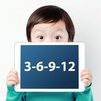 Descubre en qué consiste la regla 3-6-9-12 para saber a qué edad dejar a los niños jugar con cada aparato tecnológico.