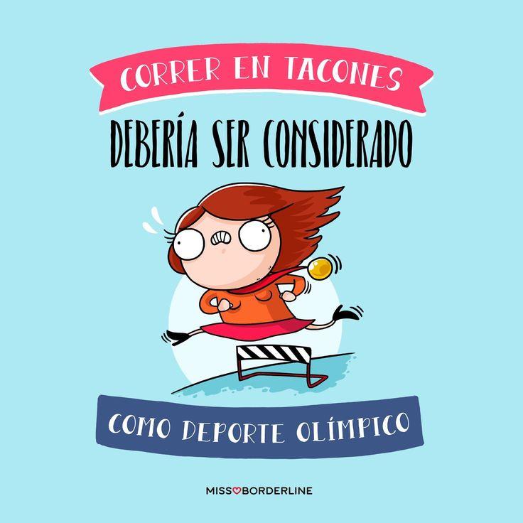 Correr en tacones debería ser considerado como deporte olímpico!