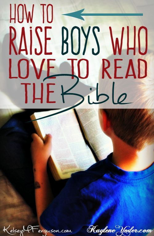 How do we raise our sons to love to read their Bibles? Check out these three tips to get you started!