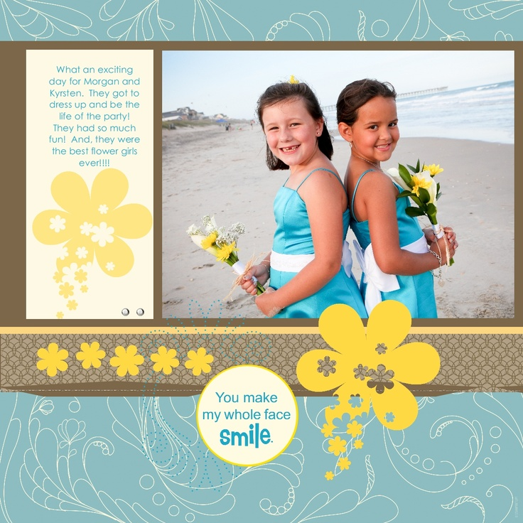 Stampin For Me: More Wedding Scrapbook Layouts
