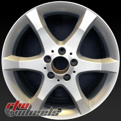 "Mercedes C Class wheels for sale 2007. Rear 17"" Silver rims 65437 - http://www.rtwwheels.com/store/shop/17-mercedes-c-class-wheels-for-sale-silver-65437/"