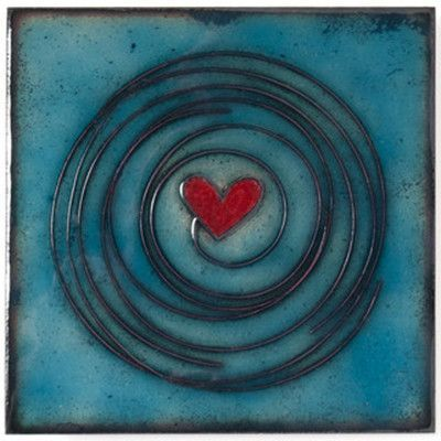Jenn Bell Tile Collection 4x4 Enameled Copper Wall Art