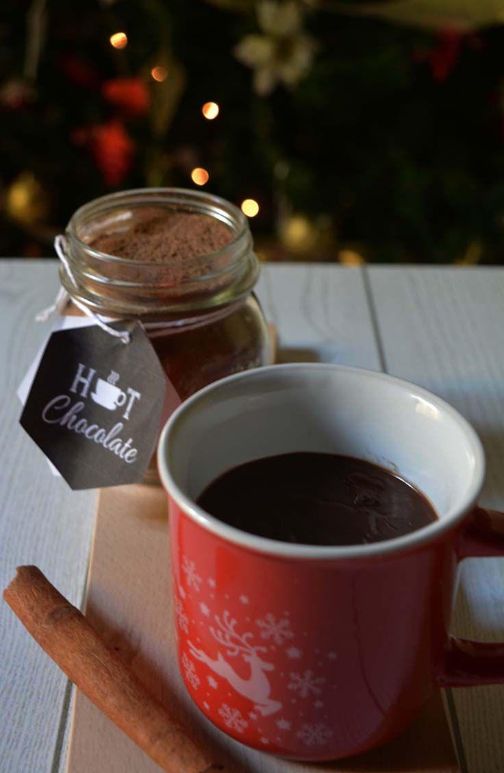 Preparato per cioccolata calda, un dolce pensiero per Natale. Home made hot cocoa mix