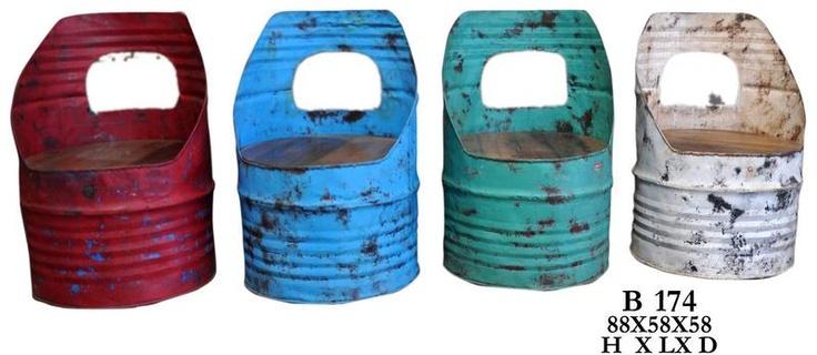 Inspirational Stuhl aus recyceltem lfass bauen Pinterest lfass Stuhl und Rund ums haus