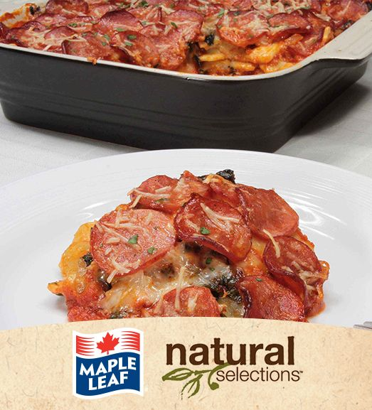 Pepperoni Ravioli Bake #NaturalSelections @Maple Leaf®