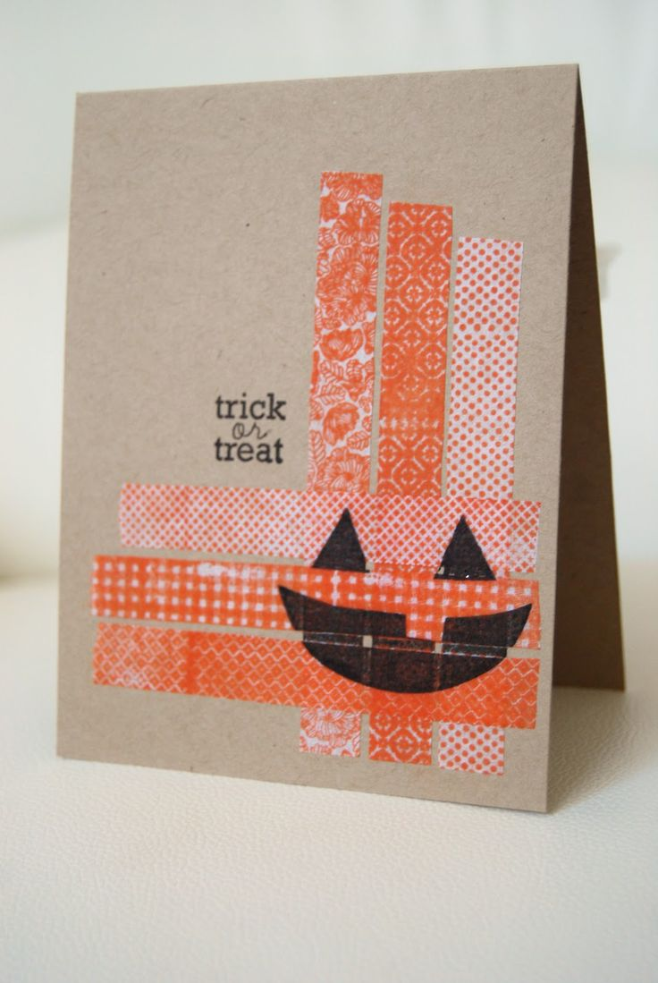 Halloween Card Making Ideas Part - 19: Halloween Card - Washi Tape