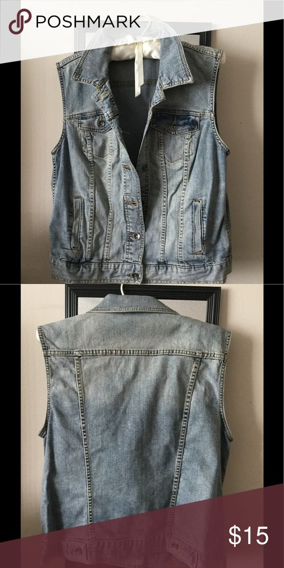 Sleeveless Jean jacket Denim sleeveless jacket super cute Merona Jackets & Coats Jean Jackets