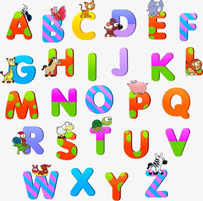 Cartoon Alphabet Vector Material Png And Vector Fontes De Letras Diferentes Alfabeto Papel De Fundo