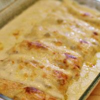 White Chicken Enchiladas….love this recipe! EASY to make GF just replace flour with 4.5 tbsp of cornstarch and stir it into the broth before you heat it up!