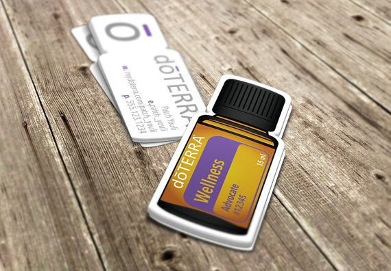 doTERRA Business Cards Die-Cut Bottle by EssentialOilPrint