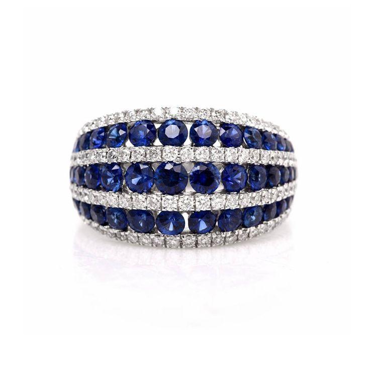 Gregg Ruth Sapphire and Diamond Ring
