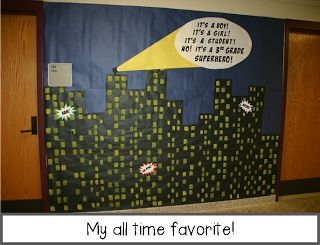 Amazing superhero themed hallway! You need to look at all the pictures! I want to go to this school!