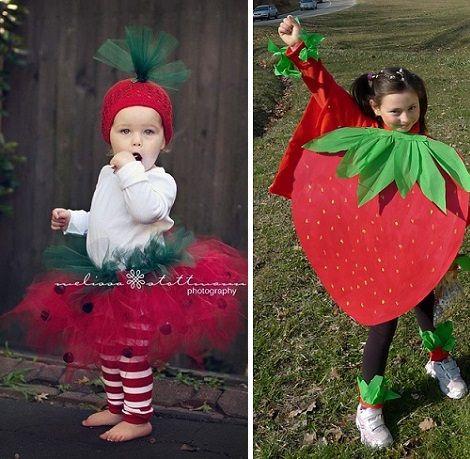 Haz tu disfraz de fruta casero; fresa, manzana, piña...