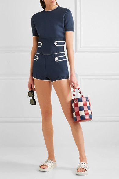 Miu Miu | Stretch-knit shorts | NET-A-PORTER.COM