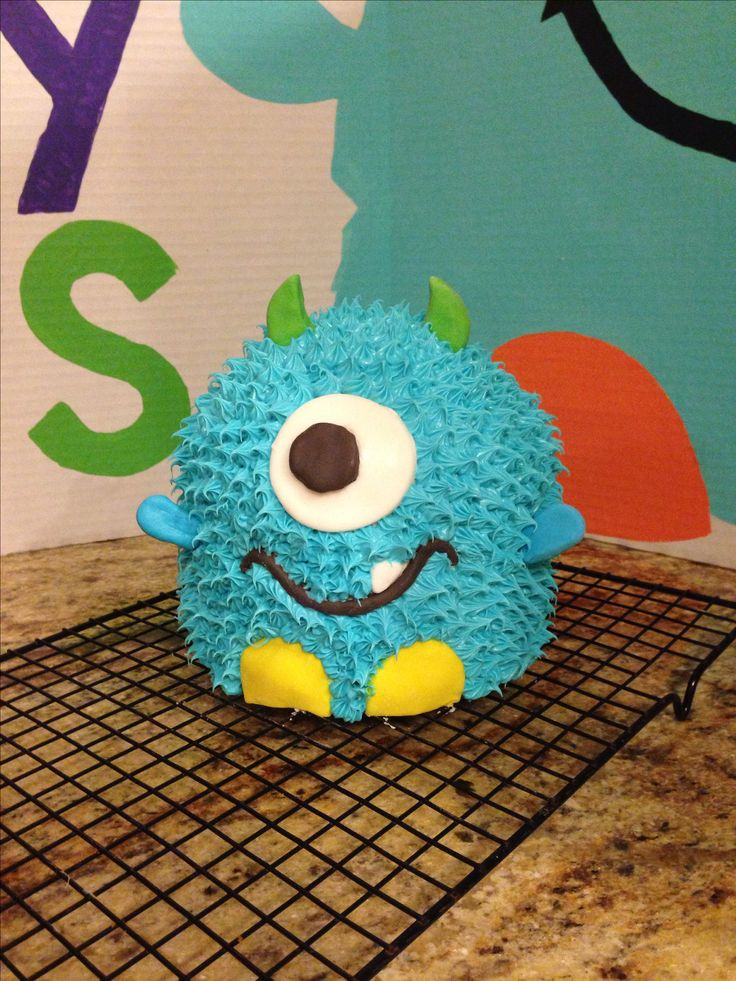 Monster birthday cake first birthday boy cake