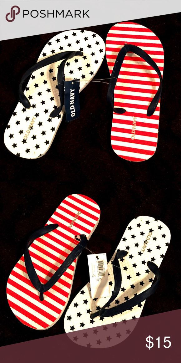 NWT Old Navy USA American Flag flip flops NWT Old Navy USA American Flag flip flops. Kids size 12/13 Old Navy Shoes Sandals & Flip Flops