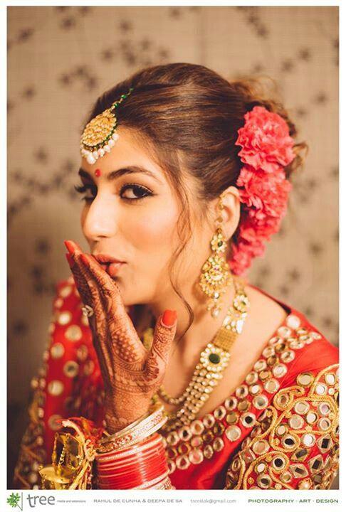 Beautiful #Desi Bride, Maang Tikka #Jewelry ~