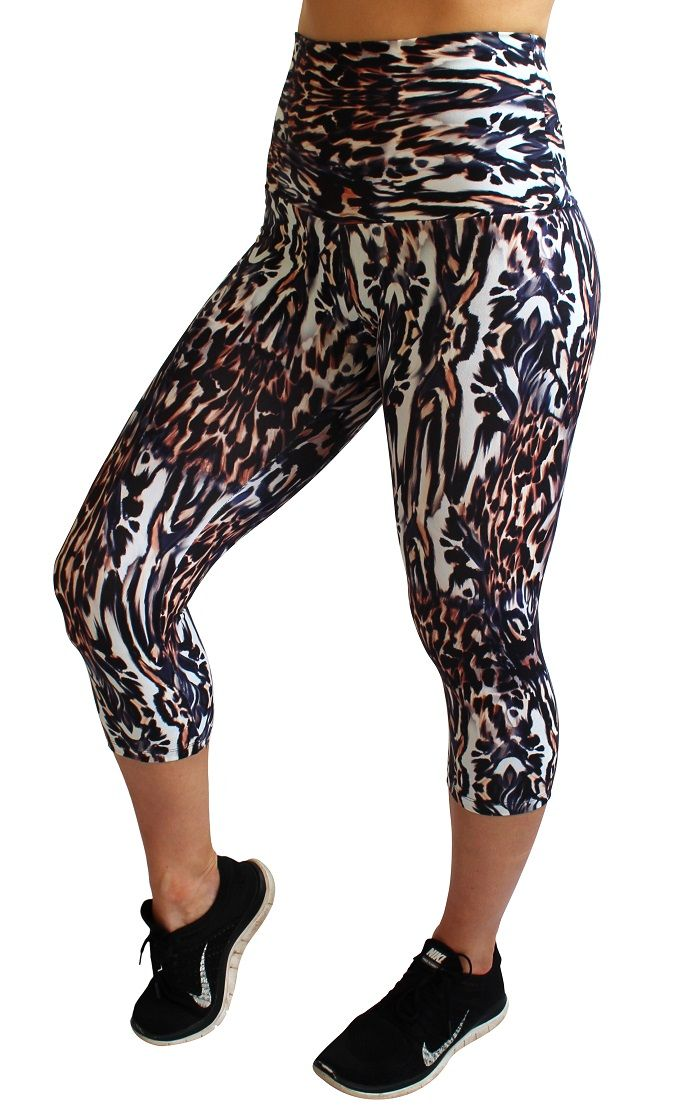 Rola Moca 'African Queen' high waist capri tights. These are the comfiest tights ever | No muffin top | Perfect for during and after pregnancy | Shop now at www.runfastergear.com.au #runfastergear #activewear #fitmum