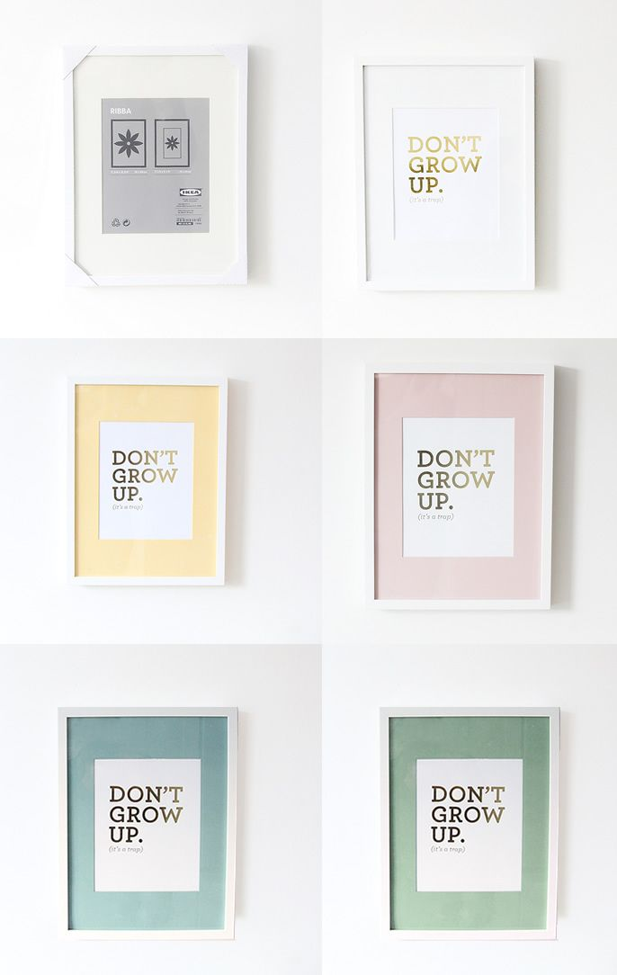hacking ikea ribba frames by painting the matte board