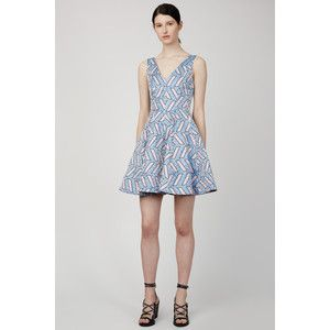 Opening Ceremony Slash Pool Jacquard V-Neck Seamed Dress