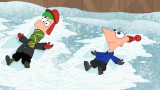 """phineas:""""Ferb sneeuw engelen bestaan helemaal niet""""  Ferb:""""phineas heb je je verstand verloren nee natuurlijk bestaan ze niet ik dacht dat jij slim was maar dus niet"""""""