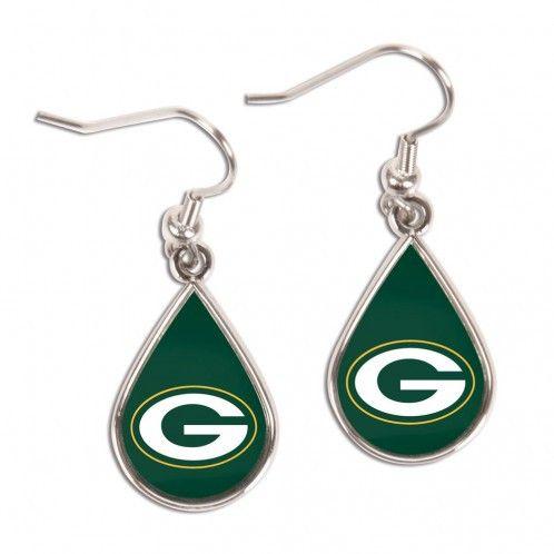 ~Green Bay Packers Earrings Tear Drop Style~ backorder