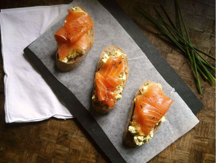 Salmon Egg Horseradish Tartines – Tartines Saumon Oeuf Raifort