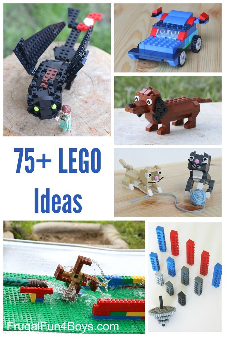 75+ LEGO Ideas for Building and Play - Game ideas, party ideas, STEM activities, building ideas, and building instructions for animals and more