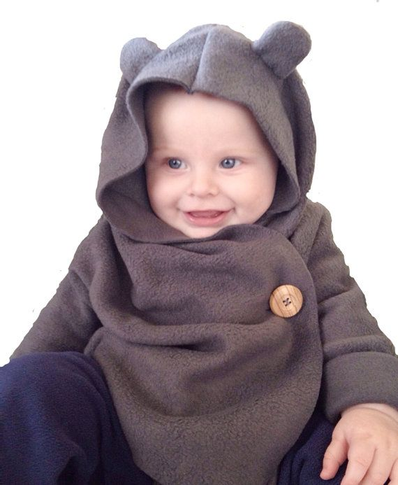 Children's fleece hooded wrap by SheMaySurpriseYou on Etsy