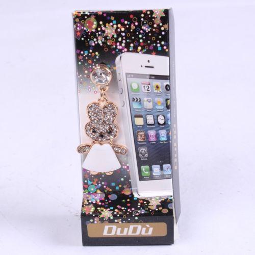 Rhinestone Anti Dust Mobile Phone Cute Animal Rabbits Dust Plugs iPhone Alloy | eBay