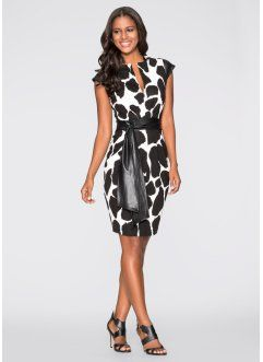 Jurk, BODYFLIRT boutique, zwart/wit giraffenprint