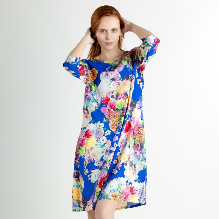 2017 Hot Sale Floral Cotton Nightwear Chinese Women Summer Night Dress Novelty Handmade Print Nightgown Sleepwear One Size #Affiliate