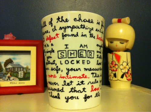 D: This is a great idea!!! I am definitely going to be making this with soem Sharpies....   sherlock | Tumblr
