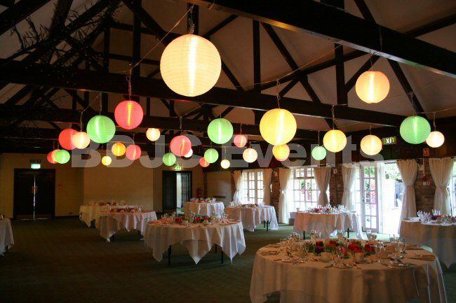 Fully lit paper lantern canopy