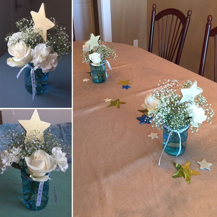 Baby shower for a Boy Twinkle Twinkle Little Star theme Centerpieces