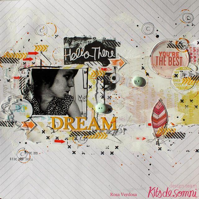 Nueva página de Scrapbook ::: Dream. rosa verdosa